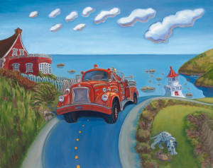 Engine 42 by Beverly Harper, Limited Edition print from original oil painting.