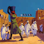 Agadez by Jeff Jordan, Limited Edition print from original acrylic painting.