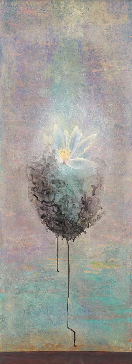 Susanna Gallisdorfer, Undisturbed, acrylic on Tyvek, 2014.