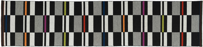 "Fibonacci Runner, 29"" wide x 126"" long wool rug by Nancy Kennedy."