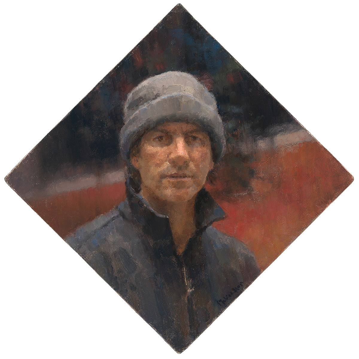 Jim McVicker, self-portrait, oil on linen