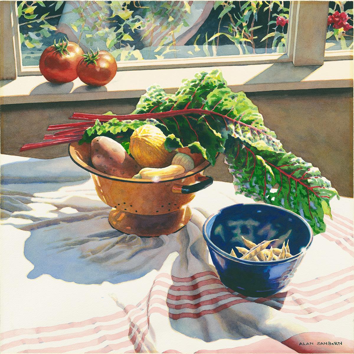 Alan Sanborn, watercolor, 2005.