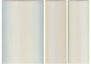 White Triptych, oil on canvas, 30 x 20 (1) 30 x 10 (2), 2009