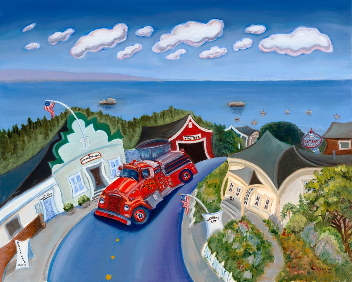 Engine 41 by Beverly Harper, Limited Edition print from original oil painting.