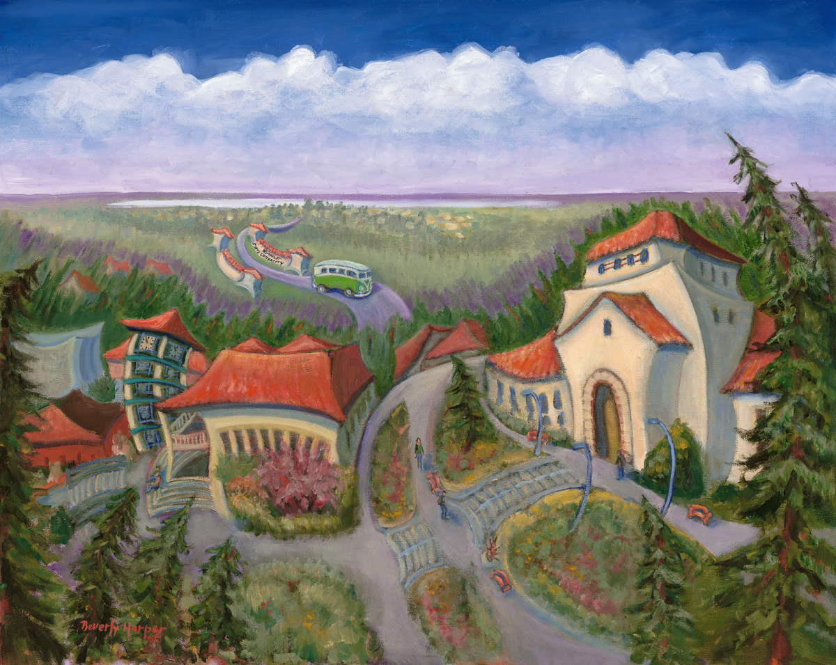 Founders Hall by Beverly Harper, Limited Edition print from original oil painting.
