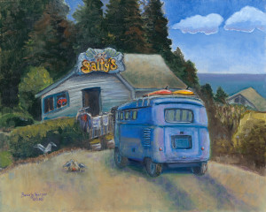 Salty's by Beverly Harper, Limited Edition print from original acrylic painting.