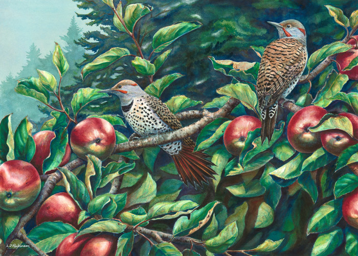 Linda Parkinson, Fall Flickers, Limited Edition print from original watercolor.
