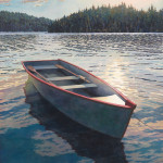 Alan Sanborn, Early Morning Rowboat, Limited Edition print from watercolor.