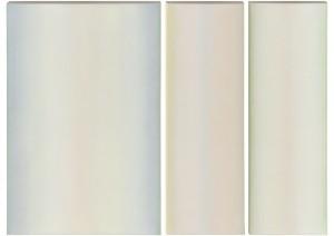 White Triptych, oil on canvas, 30 x 20 (1) 30 x 10 (2), 2009