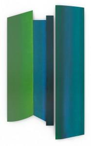 Takayama, oil on two wood panels, 57 x 34, 2015